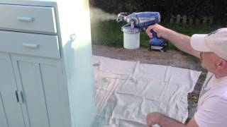 Graco Spraying Shabby Chic Cupboard