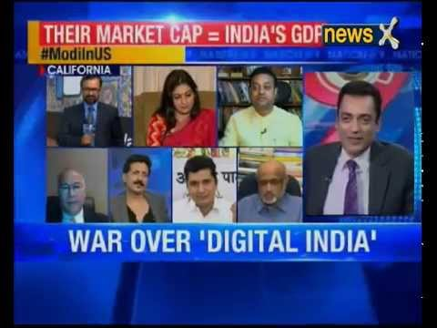 Robin Raina on NewsX TV Channel - discussing PM Modi's visit to the US