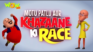 Motu Patlu Cartoons In Hindi |  Animated movie | Motu Patlu Aur Khazaane Ki Race | Wow Kidz
