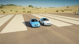 vuclip Forza Horizon 3: Mercedes-AMG C63 S vs BMW M4 Drag Race