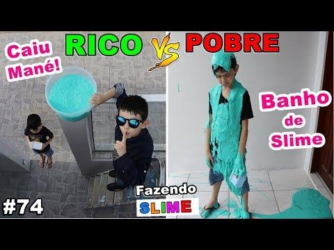 RICO VS POBRE FAZENDO AMOEBA / SLIME #74