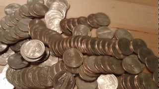 Searching for Silver and Scarce Varieties in Quarter Dollar Bank Boxes - Treasure Hunting
