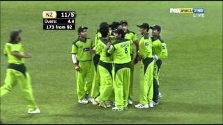 New Zealand's Wicktes v Pakistan 3rd T20 1080p HD