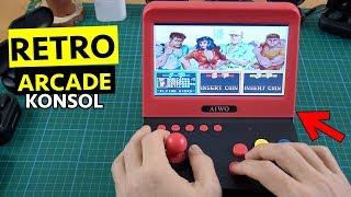 """3000 OYUNLU 7"""" ekranlı Retro Arcade Oyun Konsol incelemesi"""