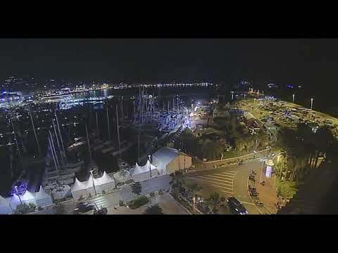 Set up of the Cannes Yachting Festival 2018 in timelapse