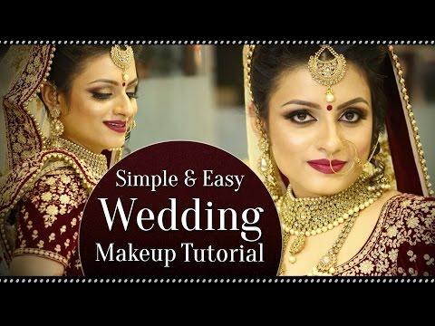 Simple & Easy Wedding Makeup Look Tutorial | Indian Bridal Makeup | Krushhh by Konica