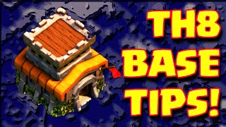 Clash Of Clans TOWNHALL 8 BEST FARMING BASE LAYOUT TIPS AND TRICKS | TH8 Farming Base Strategy