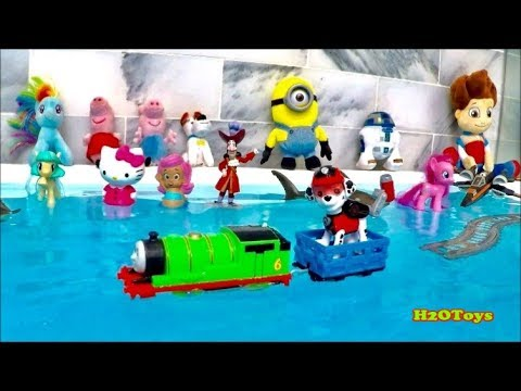 Thomas and Friends | Marshall Rides on WATER!!! PAW Patrol Percy