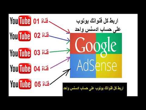 اربط كل قنواتك على يوتوب بحساب ادسنس adsens واحد فقط  حصريا تابع من هنا الطريقة