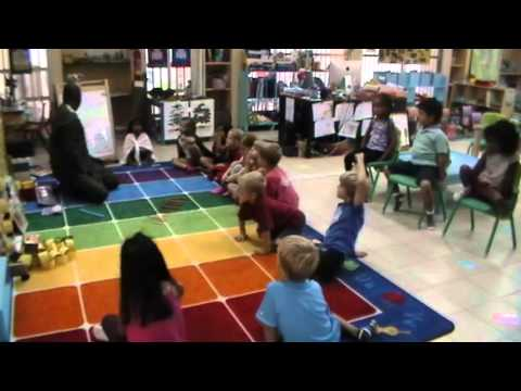 Morning meeting in a kindergarten class at the International