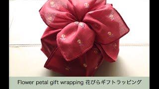 easy cute gift wrap with fabric おしゃれな箱ギフトラッピングアイデア