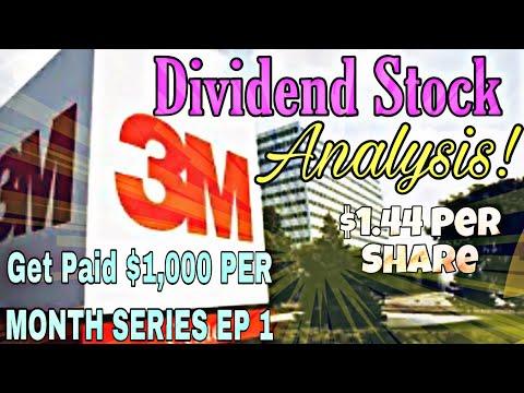 3M MMM Dividend Stock Analysis Robinhood Dividend Mastery $1,000 Per Month Cashflow Portfolio Ep 1
