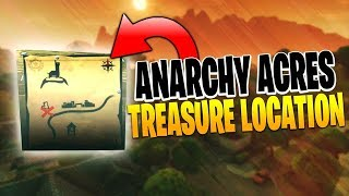 Anarchy Acres Treasure Map Loot Location! Fortnite Battle Royale Week 5 Challenges!