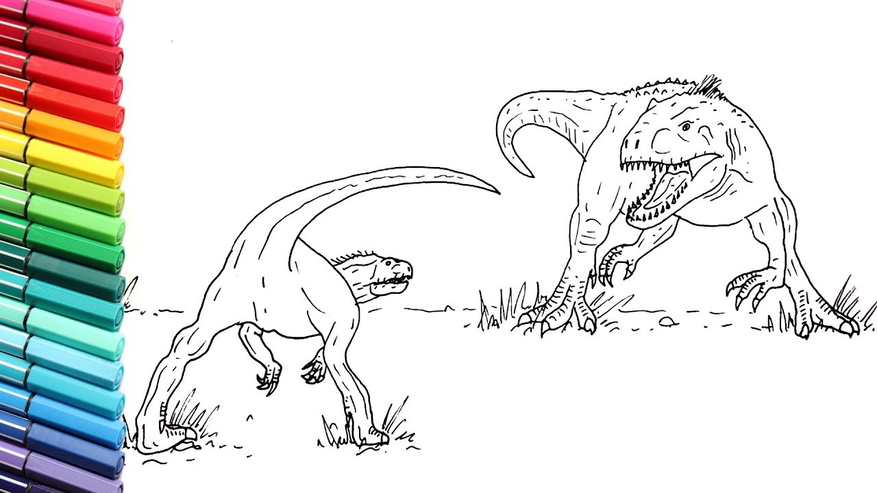 How to Draw Indominus Rex VS Indoraptor