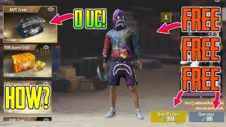 "How To Get Free ""BAPE Crate"" In Pubg Mobile 