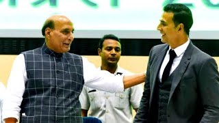 Akshay Kumar Is Action Kumar & Always Live In Action Said Rajnath Singh.