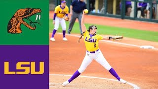 Florida A&M vs #11 LSU (2/9/20)   2020 College Softball Highlights