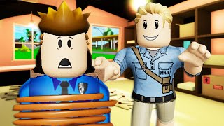 Creepy Mail Man Kidnapped Officer Roofus! A Roblox Movie (Brookhaven RP)