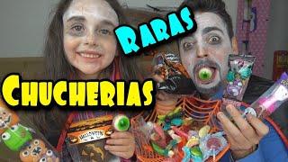 PROBAMOS CHUCHERIAS RARAS Y ACIDAS de halloween zarolakids