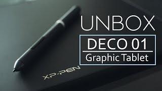 XP-Pen DECO 01 Unbox + pequeño review //English-Español//Sacando de la caja