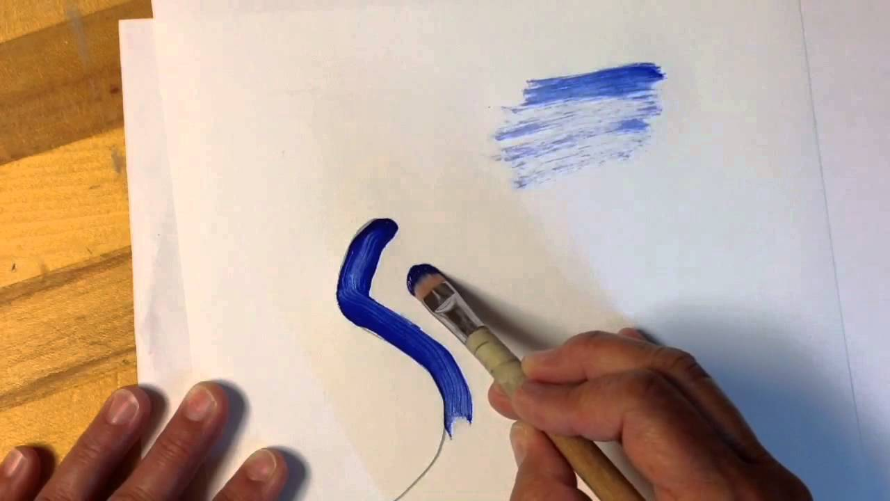 Types of artist paint brushes