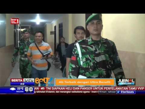 Belasan Personel TNI Datangi Mapolsek Medan Sunggal