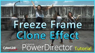 Create a Freeze Frame Clone effect using PowerDirector&PhotoDirector mobile apps screenshot 3