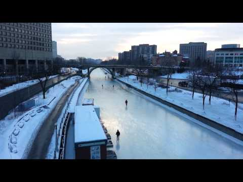 Skating to Work on the Rideau Canal