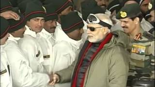 PM Modi celebrates Diwali with Officers & Jawans of the Indian Armed Forces, at Siachen Base Camp