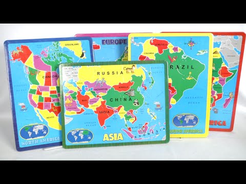 The Continent Puzzle Collection from A Broader View