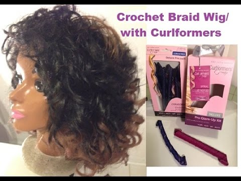CURLFORMERS CROCHET BRAID WIG WITH SENSATIONNEL COLOR BRAID T1B30 ...