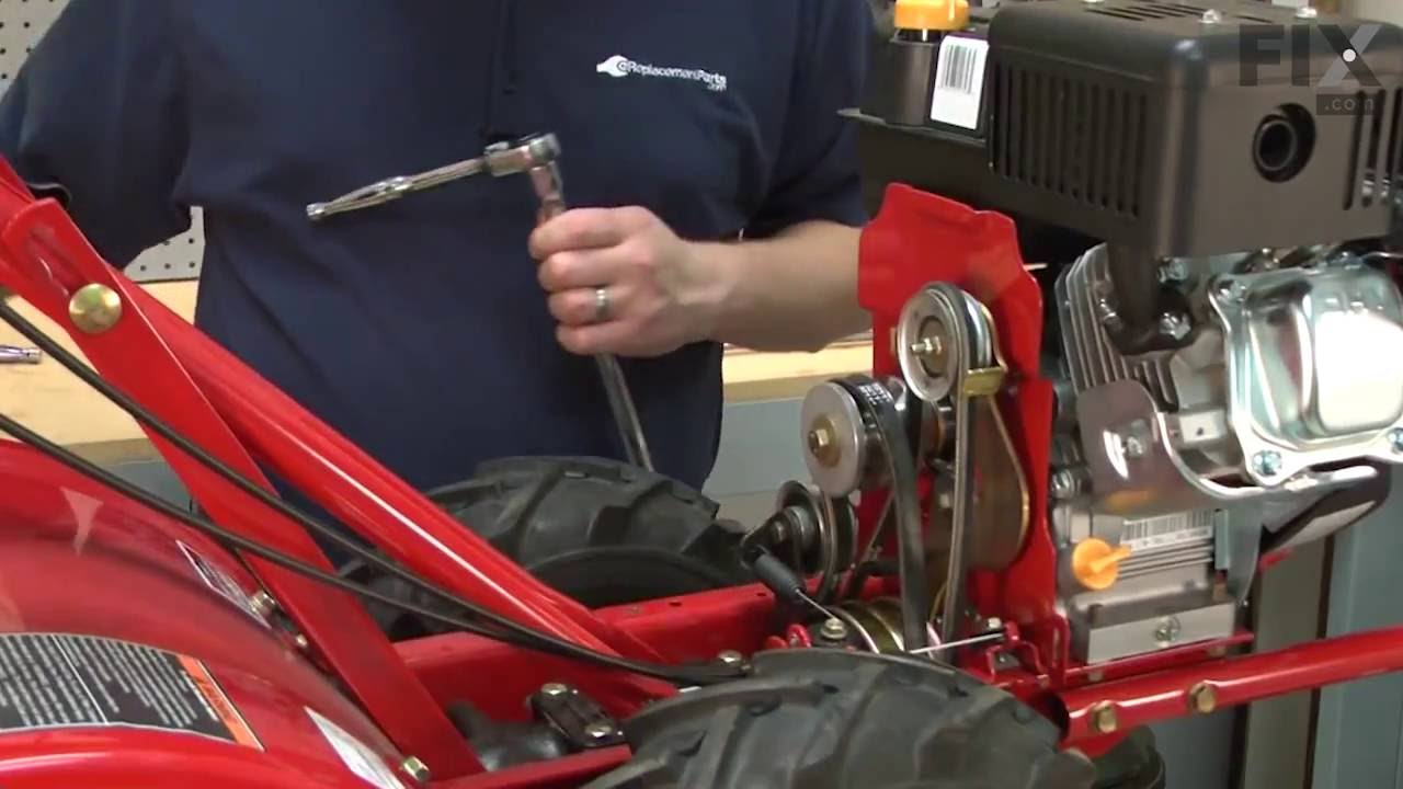 troy bilt tiller repair how to replace the reverse drive belt [ 1280 x 720 Pixel ]