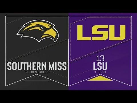 2019 NCAA Baseball Tournament Southern Miss Vs LSU 6 2 2019