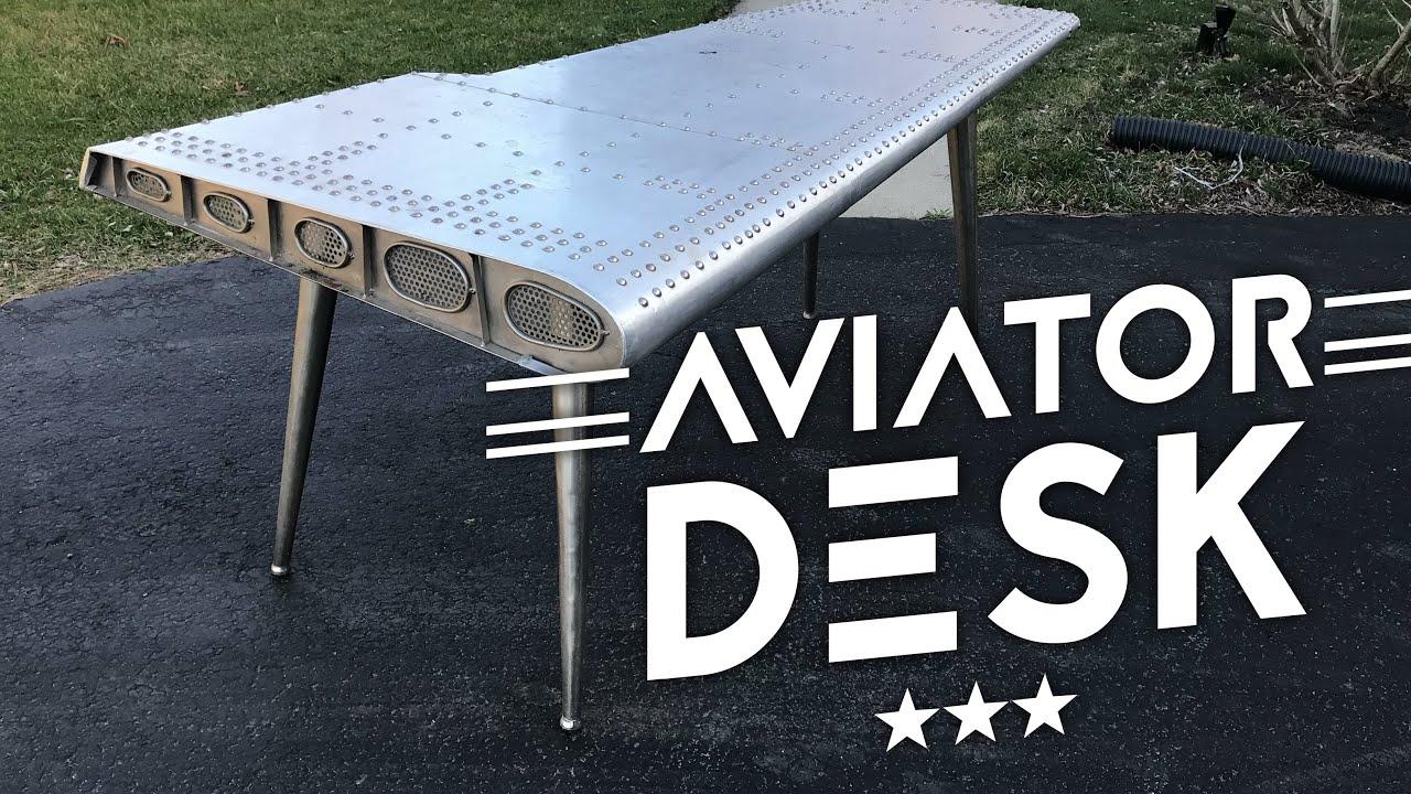 Aviator Wing Desk Restoration Hardware Dimensions Australia Pilsen Graphite Corner Migrant Resource Network