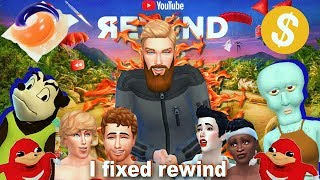 I MADE YOUTUBE REWIND IN THE SIMS 4 (but better)
