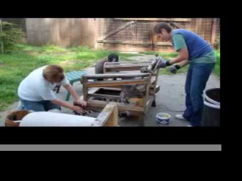 How To Turn A Loveseat Into A Patio Bench Youtube