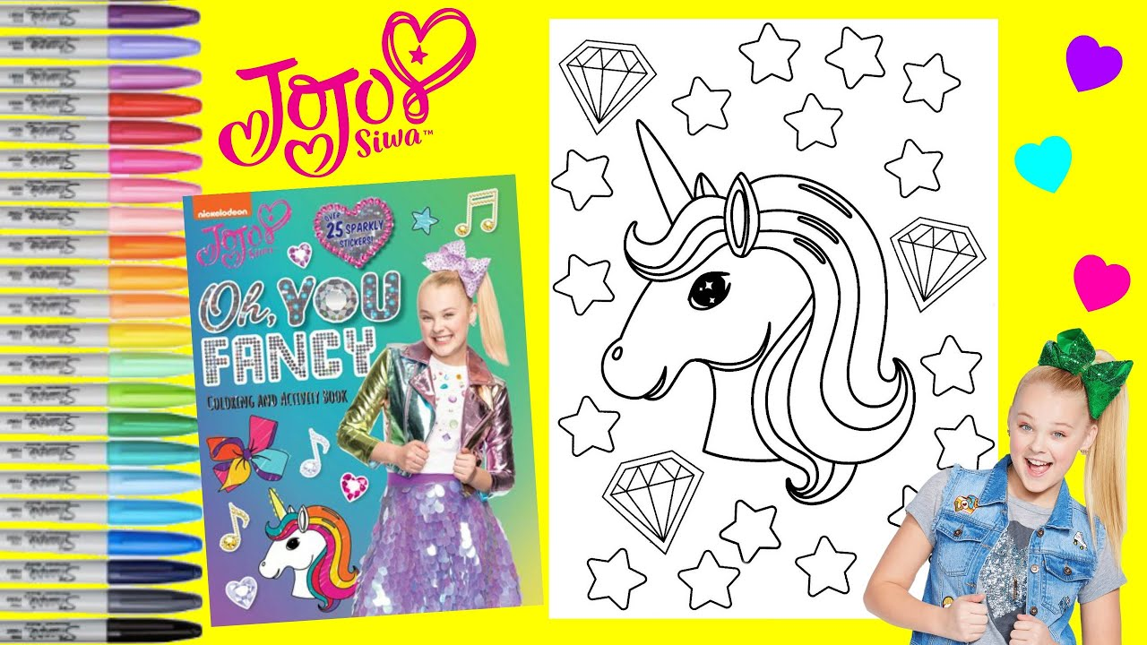 Jojo Siwa Coloring Book Page Nickelodeon Jojo Oh You Fancy Coloring And Activity Unicorn Youtube