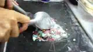 Mixing Ice Cream at the Cold Rock Ice Creamery