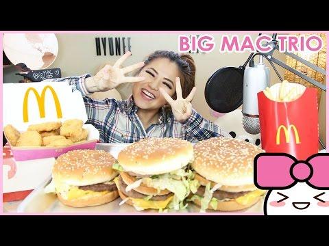 MCDONALD'S MAC JR + BIG MAC + GRAND MAC!! MUKBANG [먹방] | CONFESSIONS