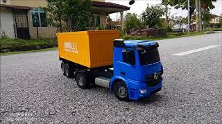 подвійний електронний контейнер вантажівка розпакування і тест
