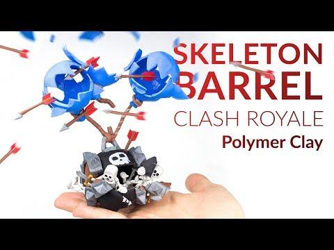 Skeleton Barrel (Clash Royale) – Polymer Clay Tutorial