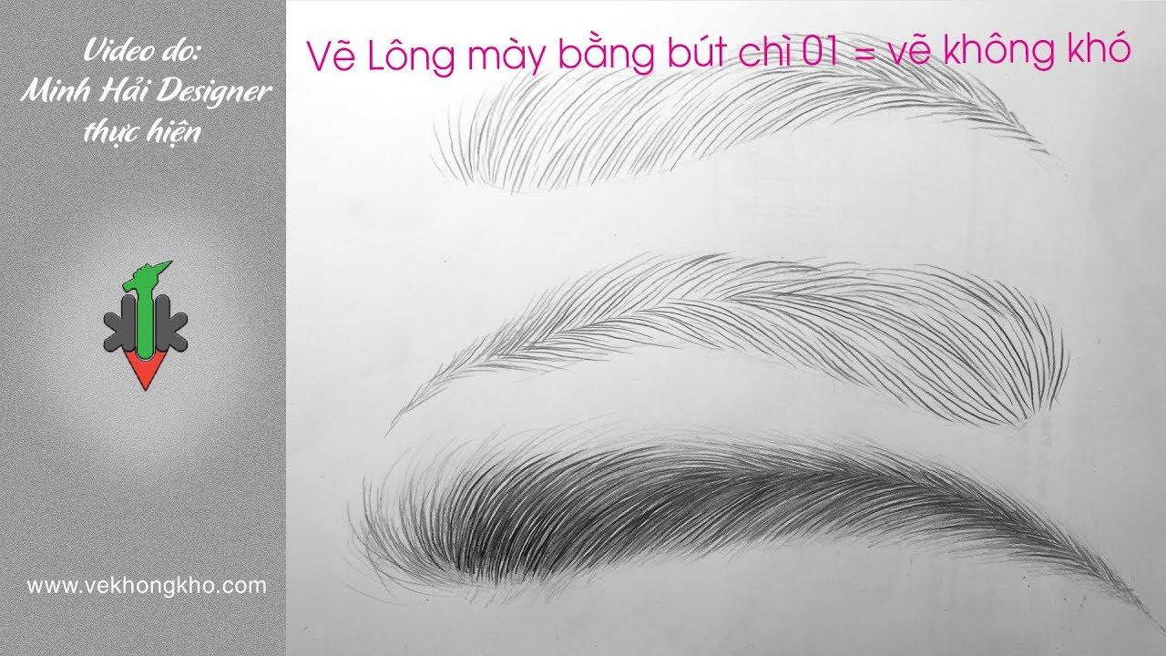 Hướng dẫn vẽ lông mài bằng bút chì 01 – vẽ không khó