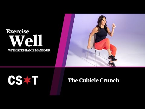 Work out at work with the Cubicle Crunch! Exercise Well with Stephanie Mansour