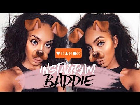 SIMPLE Everyday Makeup | Instagram Baddie Tutorial - YouTube