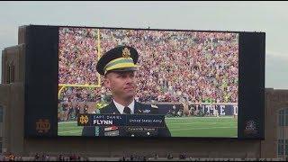 Captain Daniel Flynn recognized at Notre Dame vs. Temple University