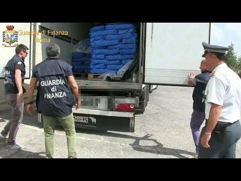 Roma, maxi sequestro di droga da parte della Guardia di Finanza. Arrestate 5 persone