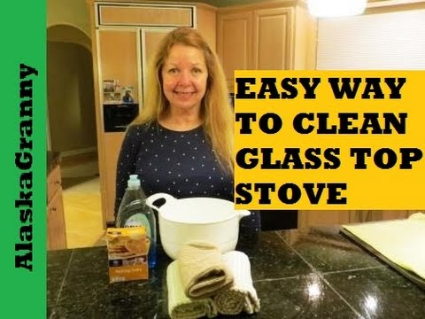 How to clean glass top stove youtube How to clean top of oven