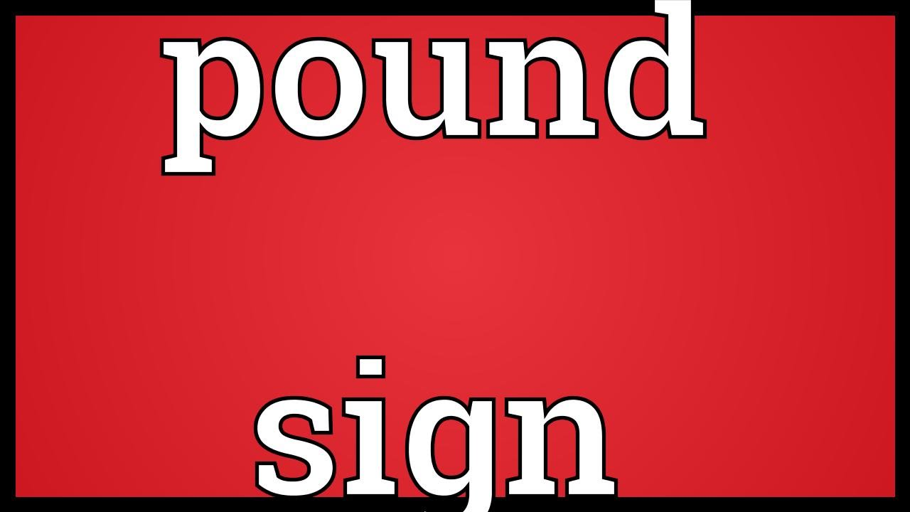 Pound Sign Meaning Youtube
