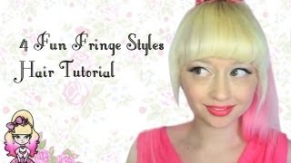 4 Fun Fringe Hairstyle Tutorials - Violet LeBeaux