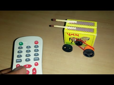 How to make a match box car - TV remote control car (by mini home)